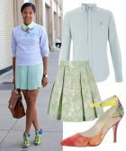The Perfect Way To Wear Unexpected Pastels For Fall
