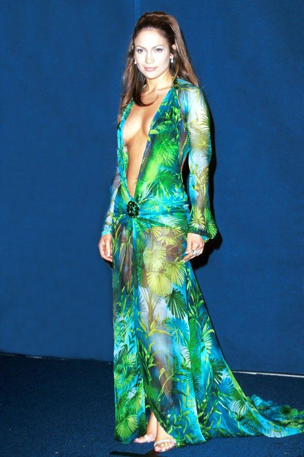 Jennifer Lopez Green Dresses Jennifer Lopez Grammys...