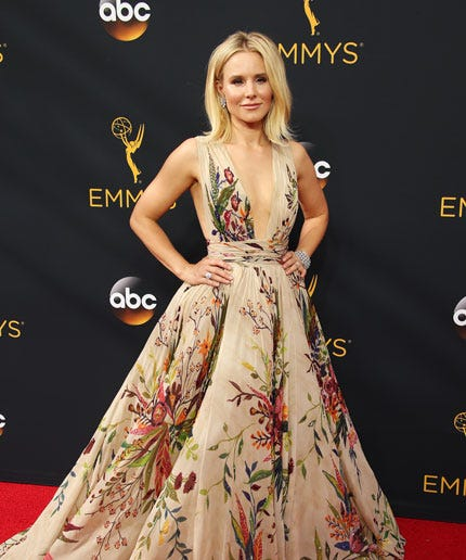 Kristen Bell Instagram Funny Emmys Photo Boob Tape Lift
