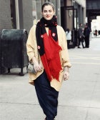 Street Style: The Season's Last Scarf (Maybe...)