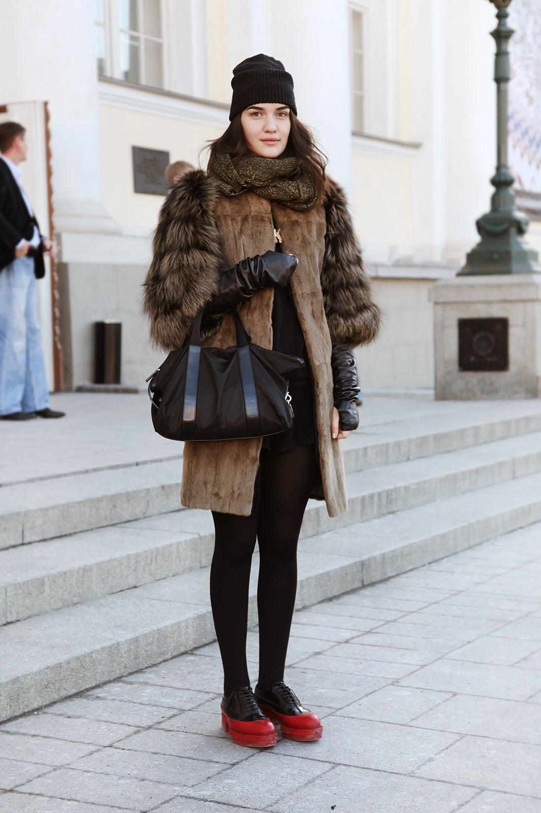 Russian Street Style Mercedes Benz Fashion Week Russia