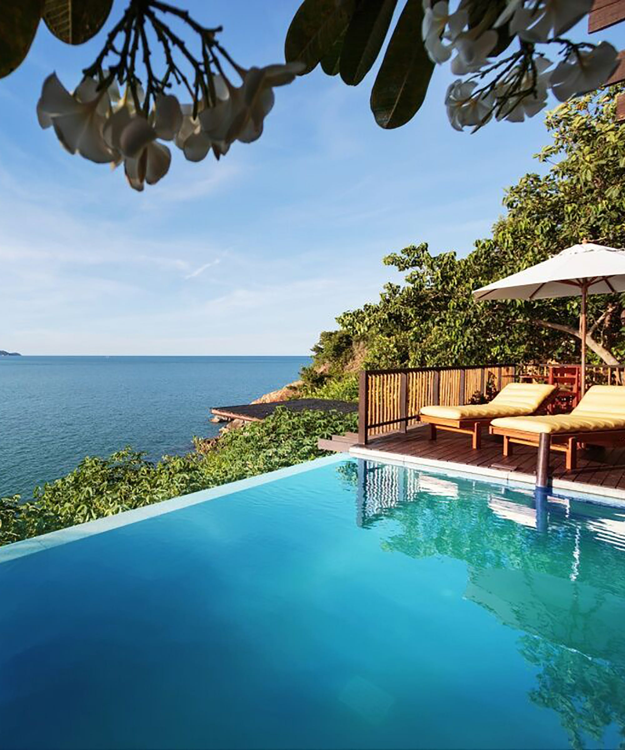Plunge pool amenities hotels with private pools for Plunge pool