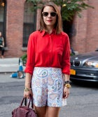 Street Style: One Last Chance For Shorts Means Paisley Perfection