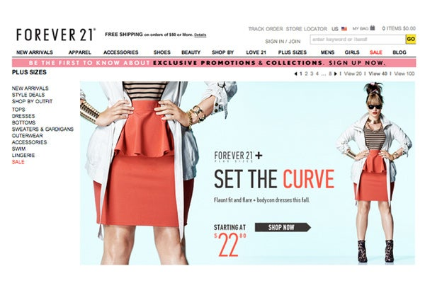 Size Fashion / Plus Size Online Boutiques-Full Figured Clothing Stores
