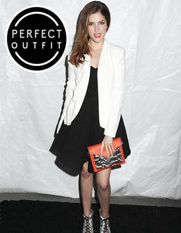 How To Accessorize Your Black-&-White Look, Courtesy of Anna Kendrick