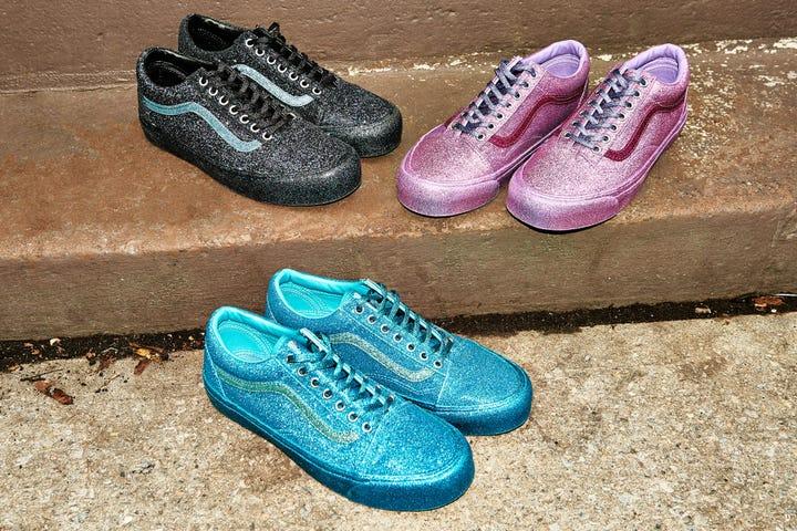 Vans New Glitter Old Skool Sneakers Opening Ceremony