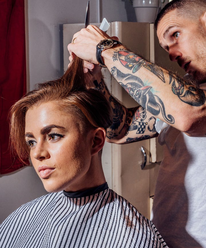 Womens Barber Shop Haircuts