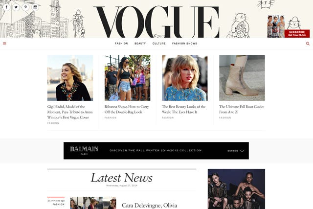 The New Vogue Site Actually Surprised Us