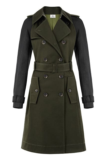 Altuzarra For Target green trench coat