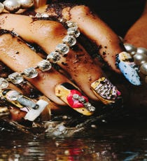 "Artwork inspired by Marilyn Minter. Nail artist: Sonia ""G"" Molina."