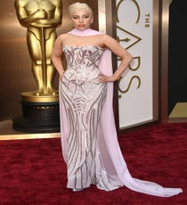 Lady Gaga — To be completely honest, we weren't exactly sure what Gaga was doing at the Oscars. She didn't present, perform, or receive a nomination. But, if she showed up just to be a fixture of the red carpet and steal some major spotlight from the other attendees in this dazzling Atelier Versace dress and scarf, well, that's fine by us, too.