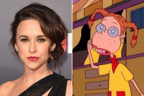 Cartoon characters celebrity voices in video