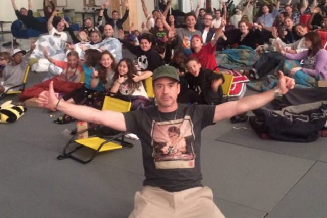 Robert Downey Jr. Gave 50 Kids (& The Internet) The BEST Gift For His Birthday