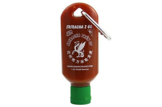 Never Run Out Of Sriracha Again With This Genius Keychain