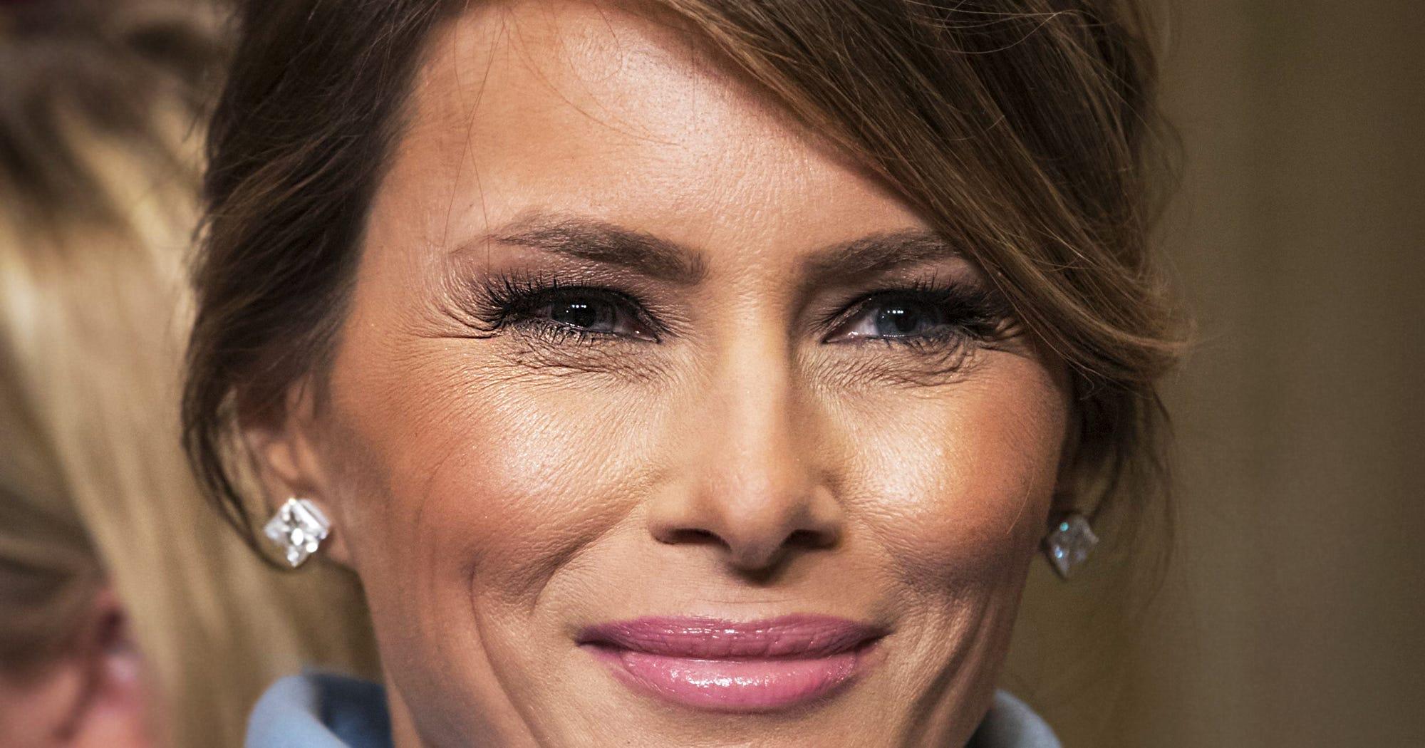Фото мелании трамп без макияжа