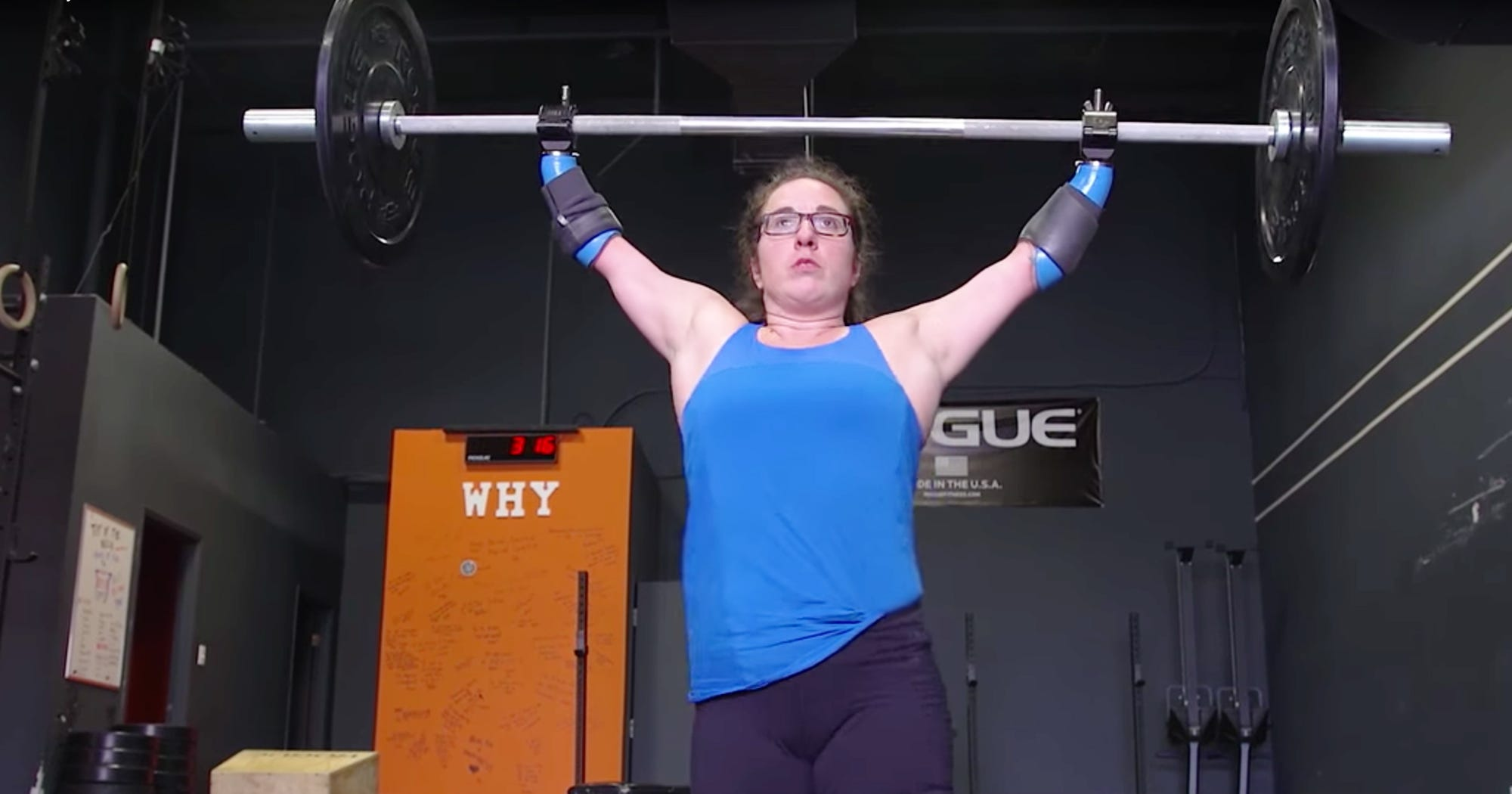 crossfit athlete no limbs disability weight lifting