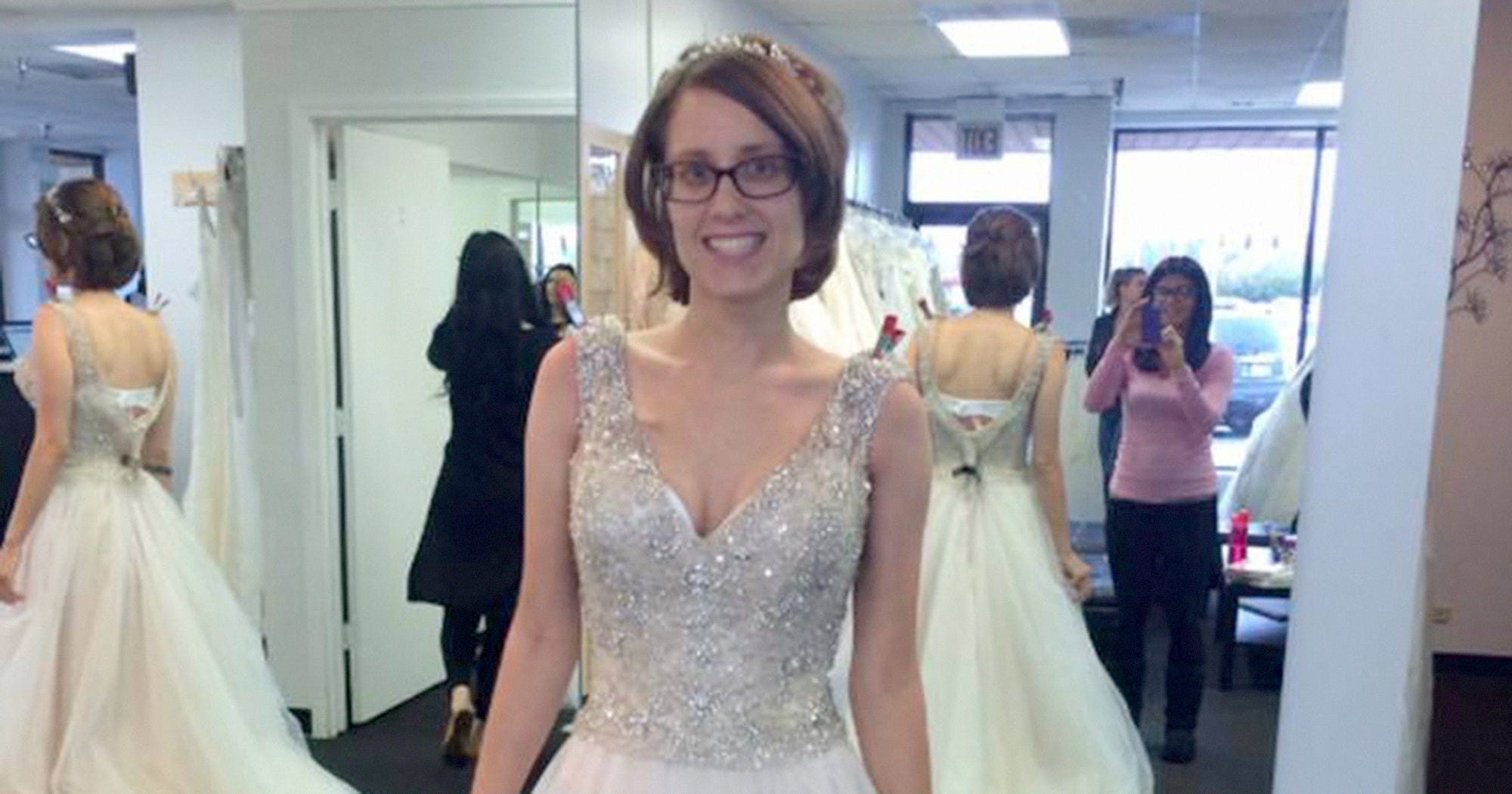Widower Late Wife Wedding Dress Photo Grieving