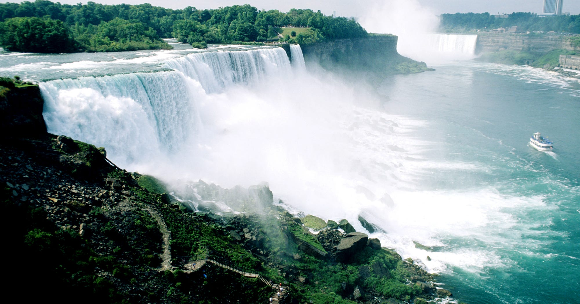 New York State Niagara Falls Stop Flowing