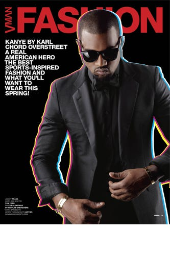 0ed647de7a5e5 Kanye West Covers VMAN  21 Photographed By Karl Lagerfeld