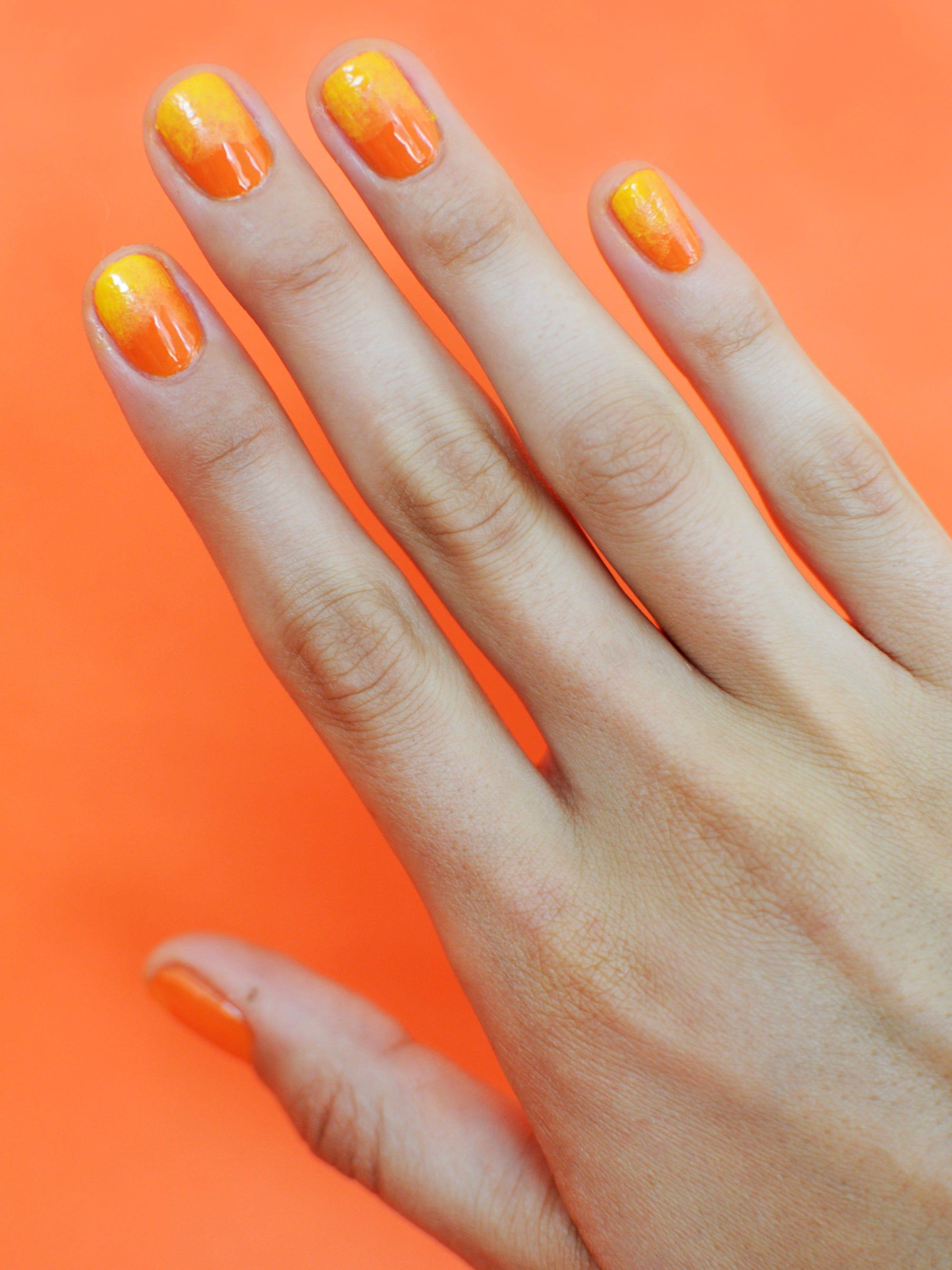 Von Orange Zu Pink Ombré Nägel Für Den Sommer 2019