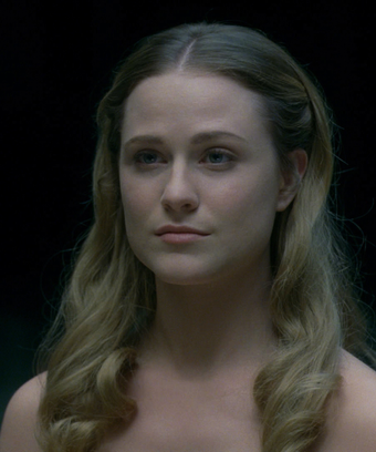 Evan Rachel Wood at Dolores on Westworld
