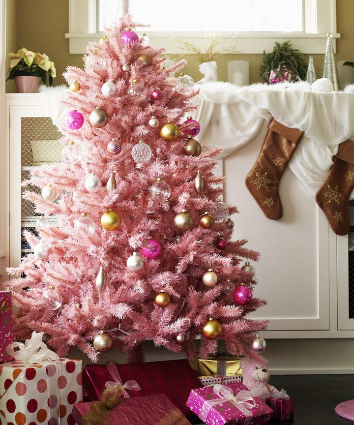 pink holiday trees are the best thing to happen this season