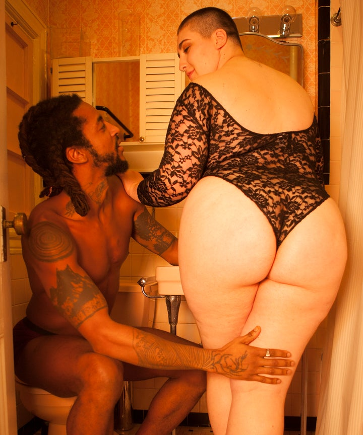 Huge black butt and cum