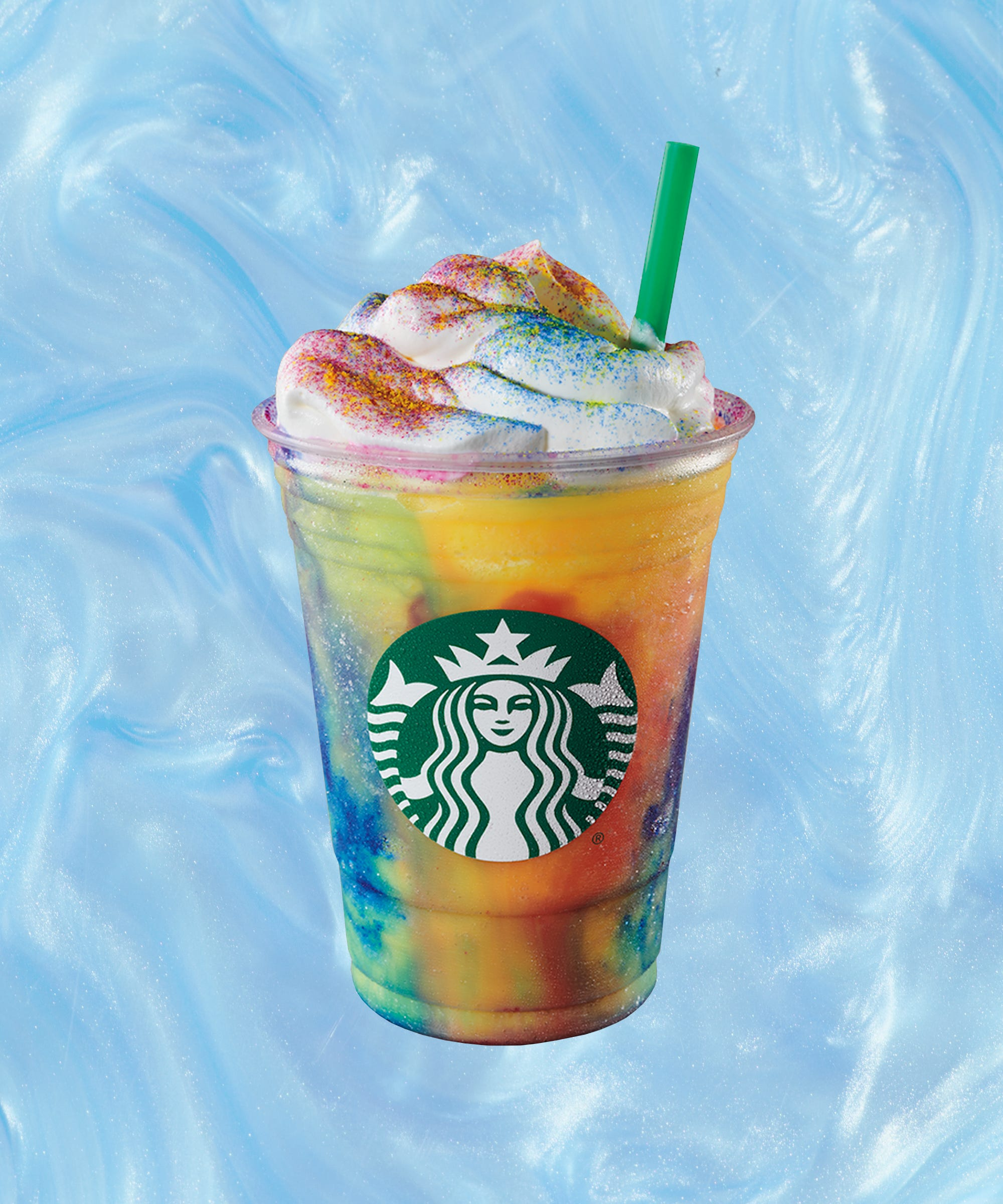 The Rumors Are True: Tie-Dyed Frappuccinos Are Coming To A Starbucks Near You