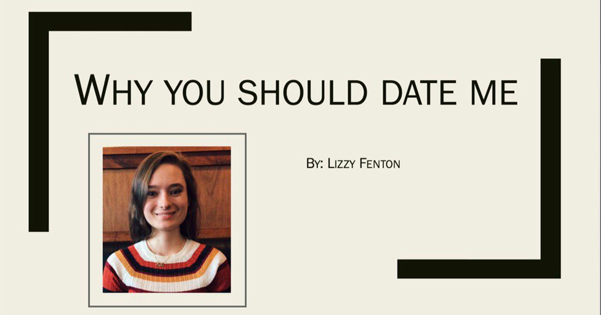 why date me powerpoint girl emails crush presentation