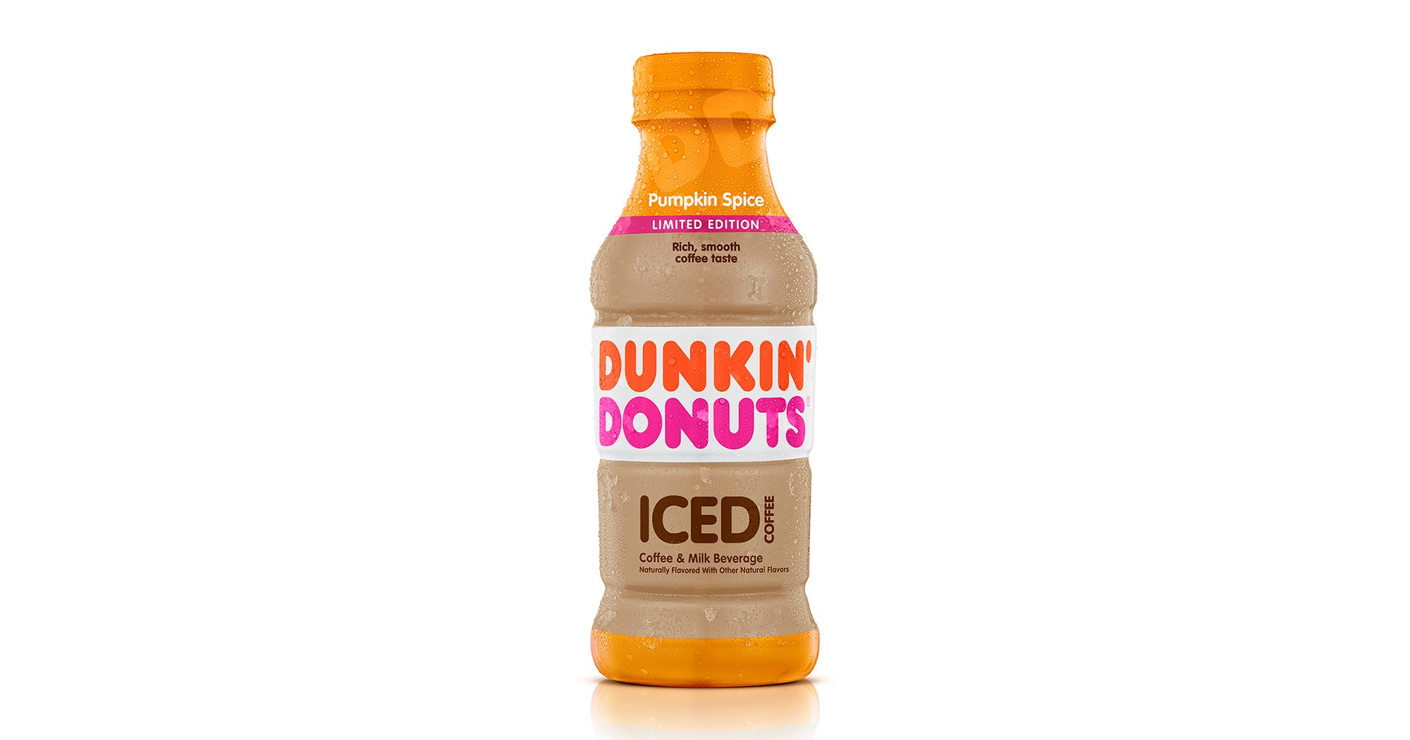 Dunkin Donuts Launches Bottled Pumpkin Spice Ice Coffee