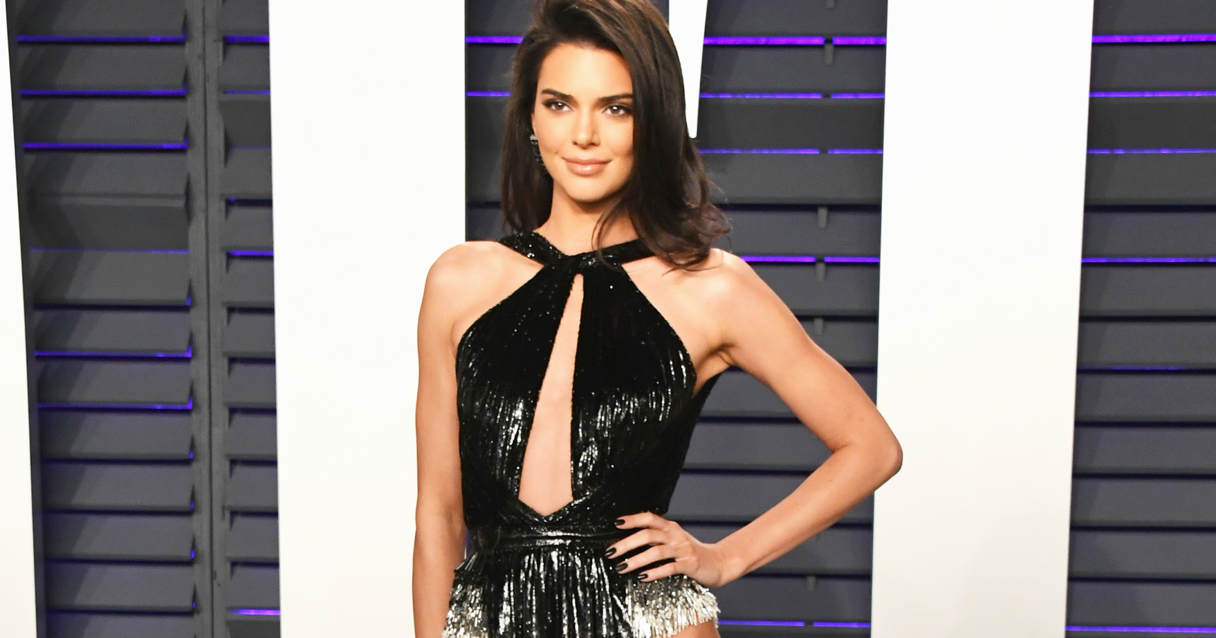 0f96aad4d68c Kendall Jenner Risque Slit Dress At Oscars After Party
