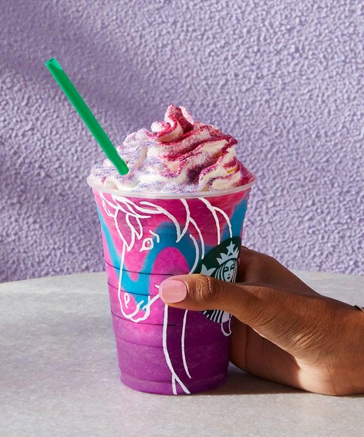disneyland starbucks pink pegasus unicorn frappuccino