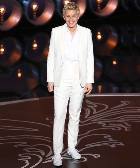 Ellen DeGeneres Oscars - Tuxedos, Womens Pantsuits