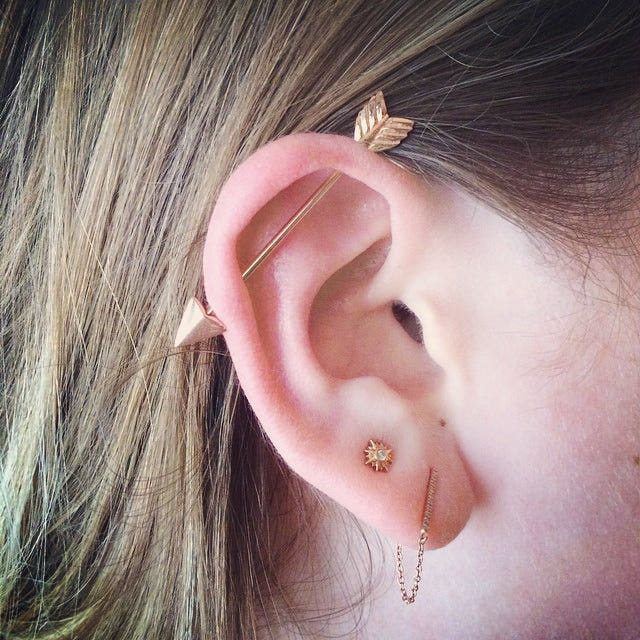The Piercing Is Becoming Por Again And A Piercer Should Have Diffe Size S For Ears Because Everybody