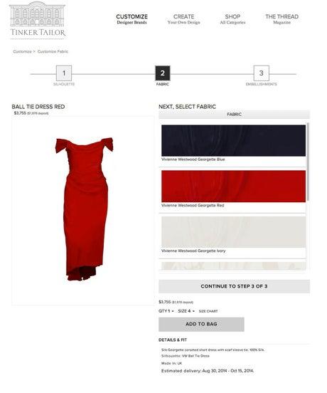 Tinker Tailor Dress Customization Website