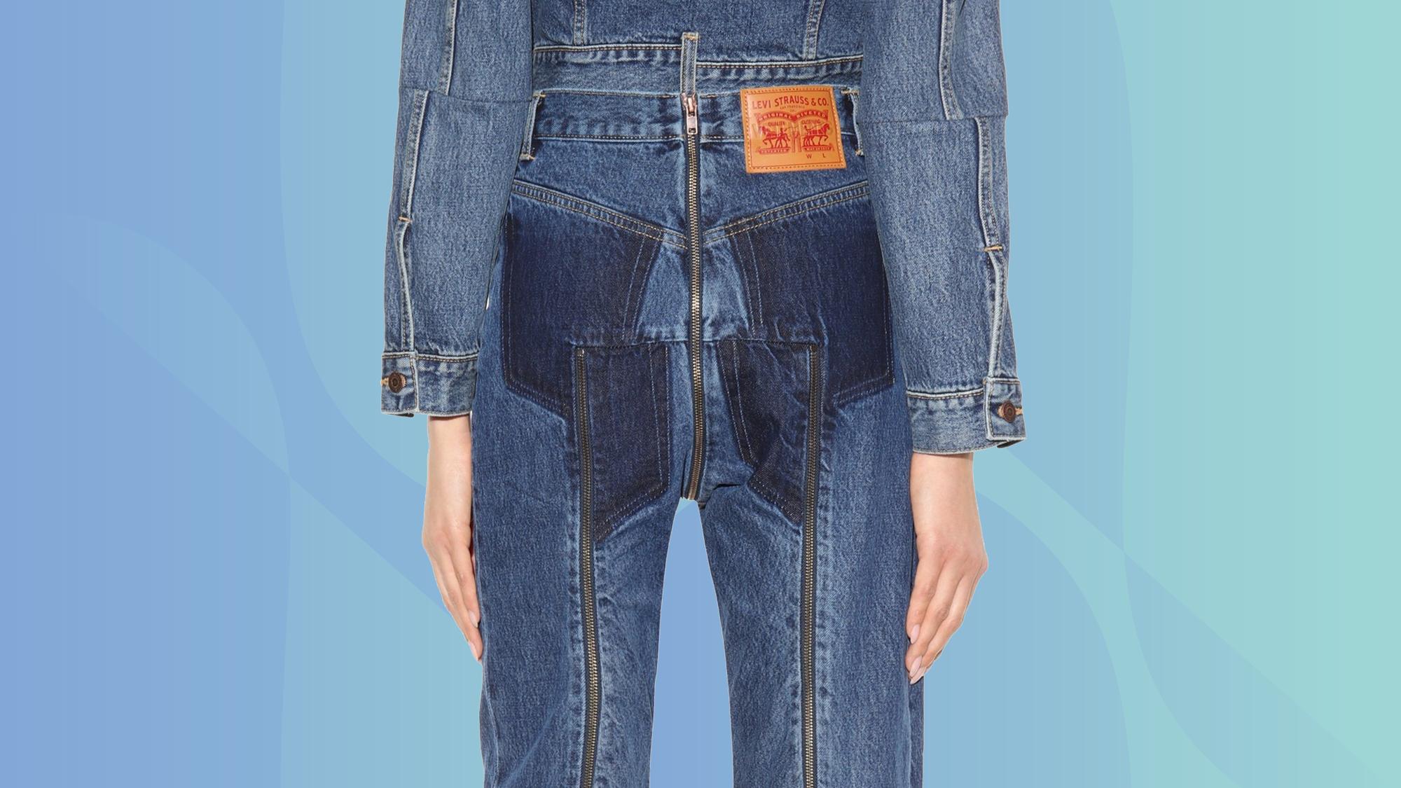 8f09b71b Vetements Zipper Exposed Butt Jeans