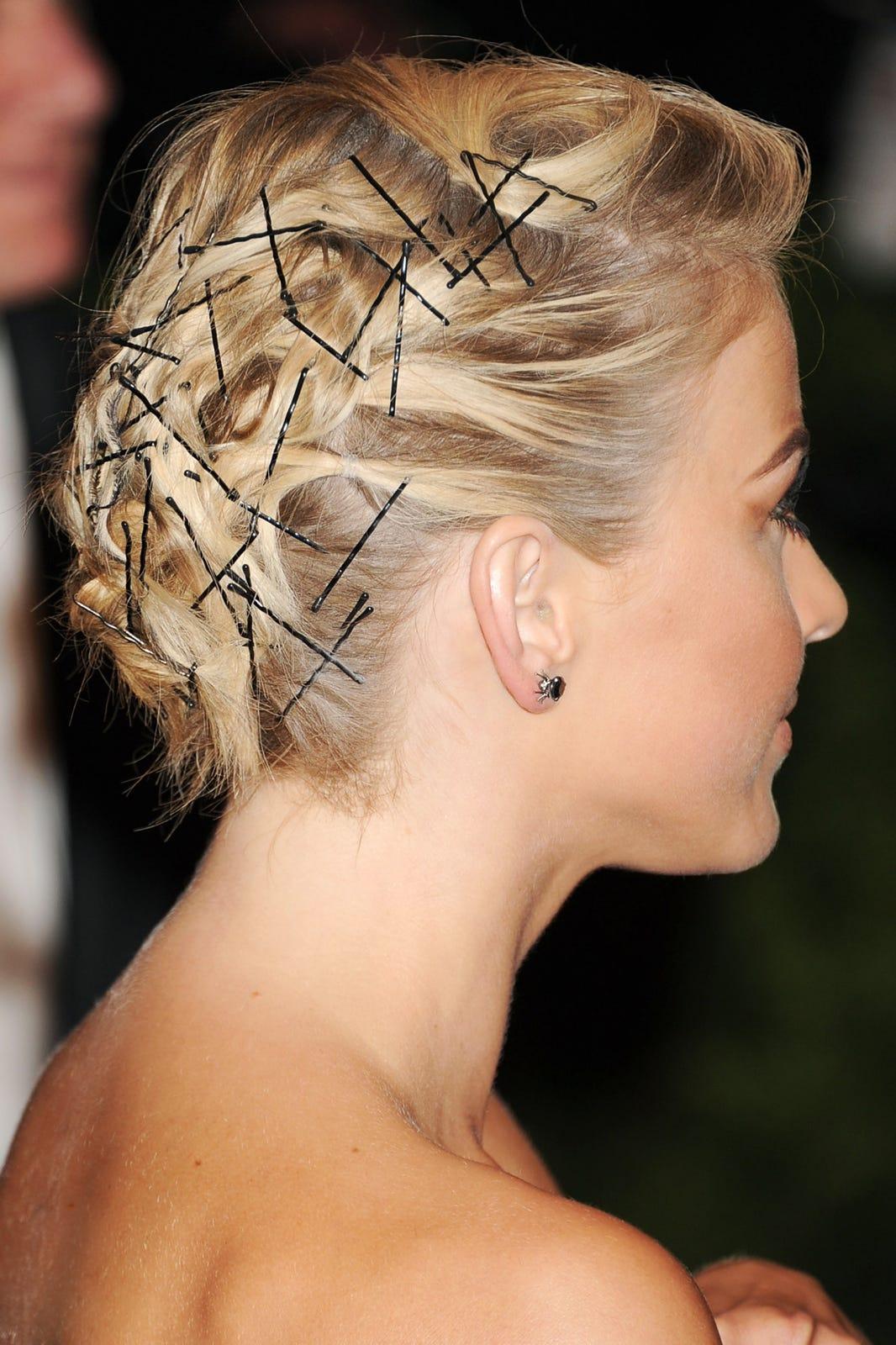 bobby pin hairstyles - edgy summer hair