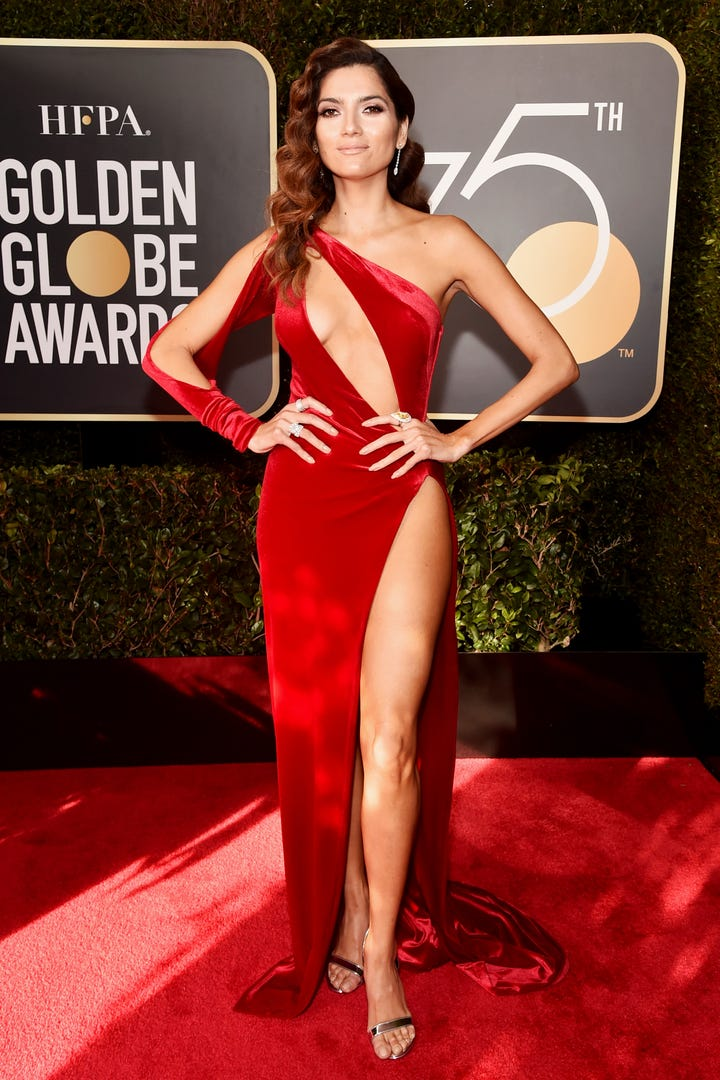 Why Blanca Blanco Wore A Red Dress To The Golden Globes