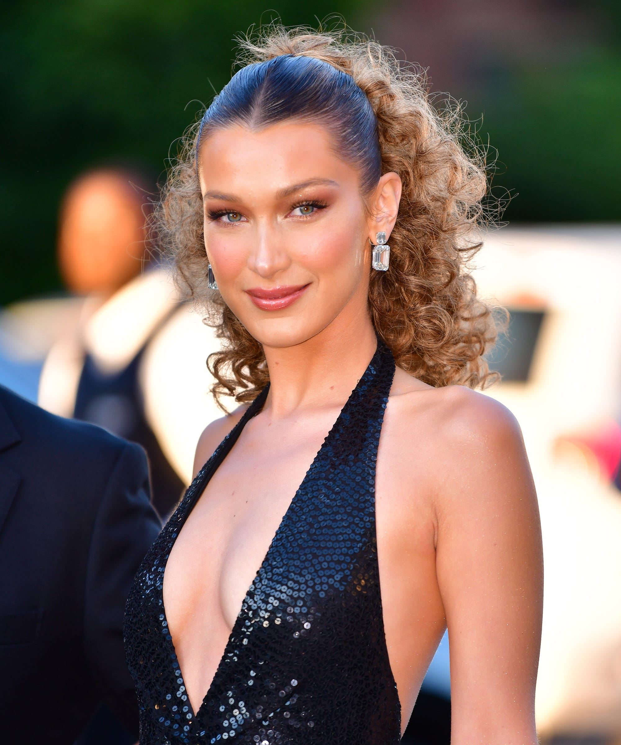 Deep French Tips Are Trending In NYC — & Bella Hadid Is On Board