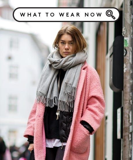 what to wear with pink coat