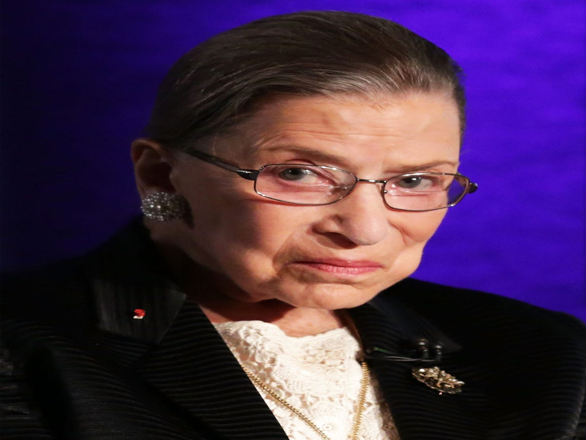 Ruth Bader Ginsburg Hospitalized After Falling & Breaking 3 Ribs