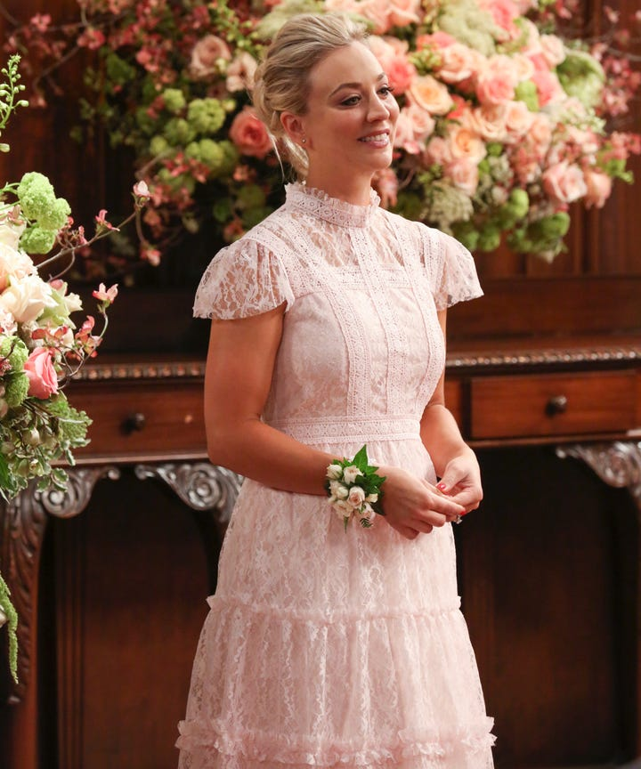 Kaley Cuoco Is Married In A Lace Wedding Dress Photos