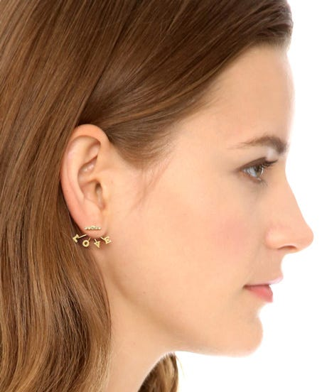 Earrings Are Doing All Sorts Of Kooky Things These Days There The Ubiquitous Ear Cuffs And Course Singular Statement Studs We Re Looking At