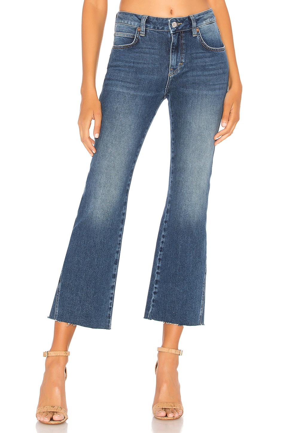 1e13fddff1d Free People. Rita Crop Flare Jean. $98.00. BUY. 9 of 20. Photo Courtesy of  Topshop