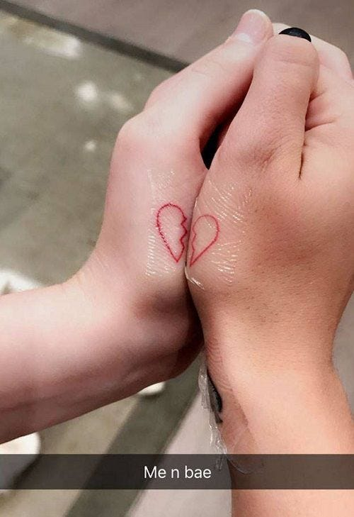 The Celebrity Couples Who Got Cute Matching Tattoos