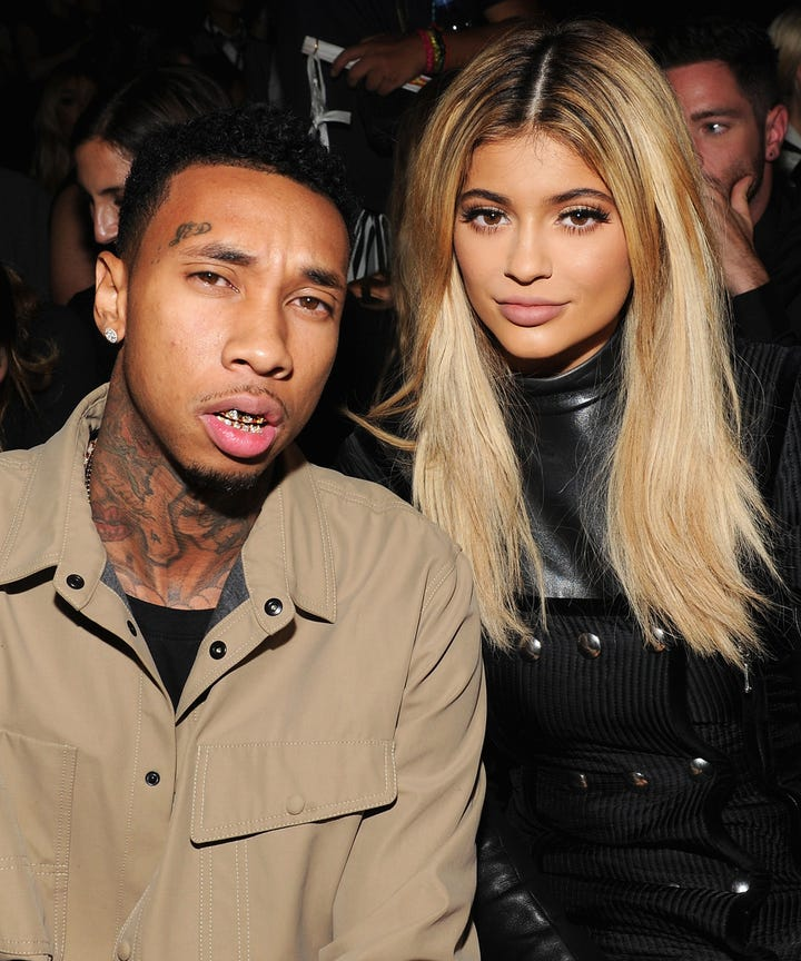 at what age did kylie start dating tyga