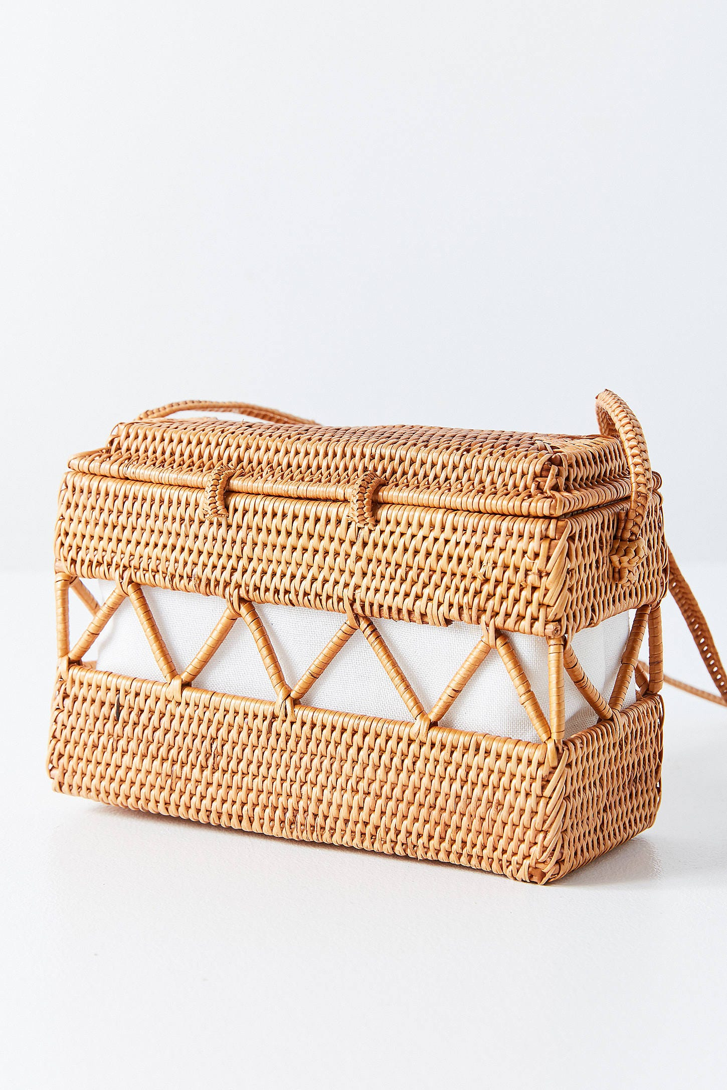 Urban Outers Straw Structured Crossbody Bag