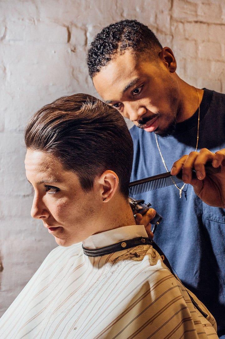 Womens Barber Shop Haircuts