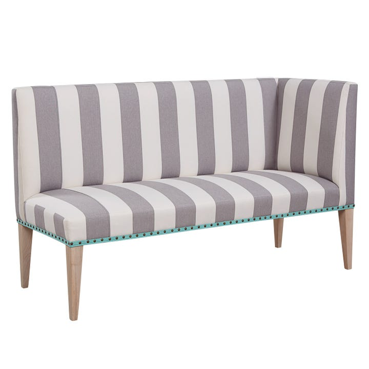 Small Space Living Calls For Creative Uses Of All Corners Of Your Home.  This Curved Loveseat Makes Sure Those Awkward Nooks In Your Living Room Are  ...