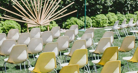 A Mid-Century Style Wedding That's Beyond Incredible